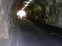 Diamond Head Crater Tunnel for Vehicles and People to Enter the Volcano.