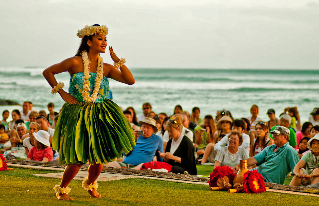 Hula dancing in Hawaii