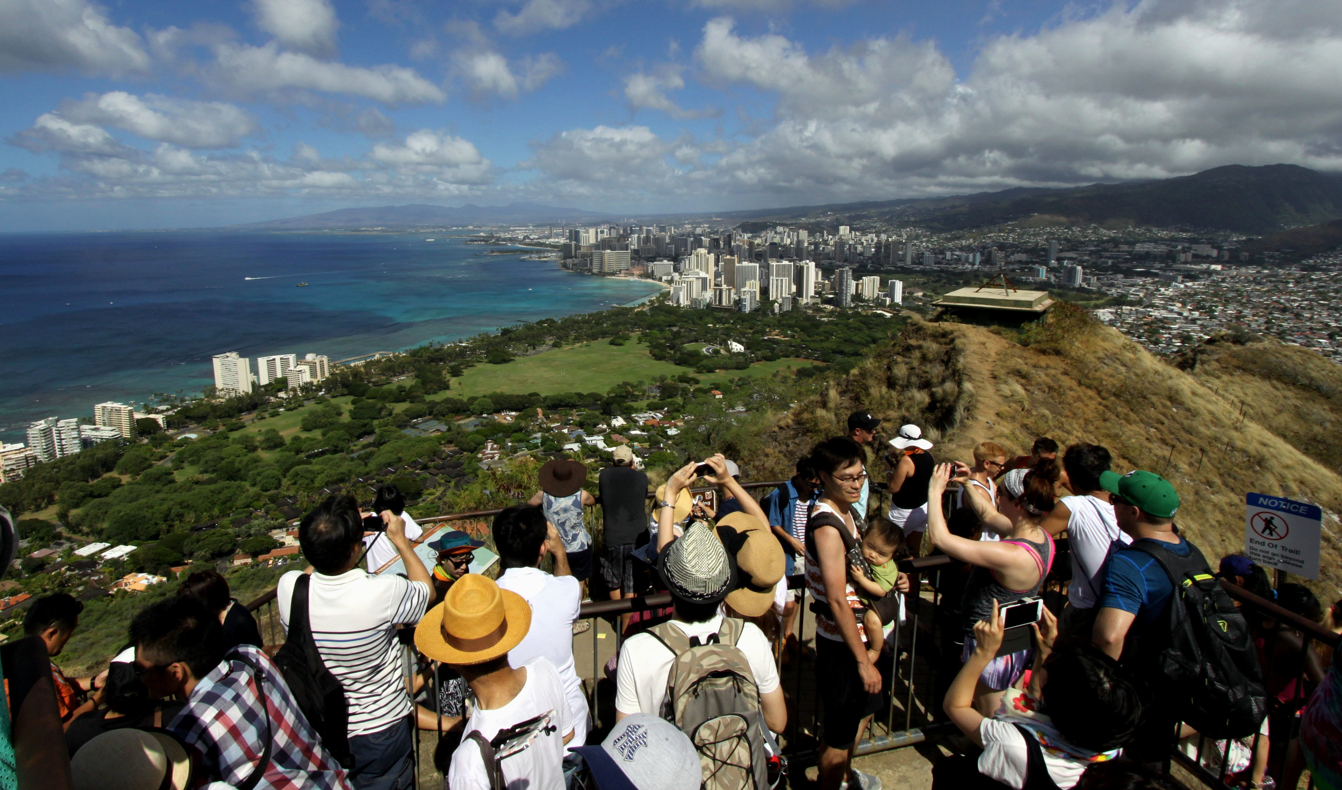 Crowds in Hawaii
